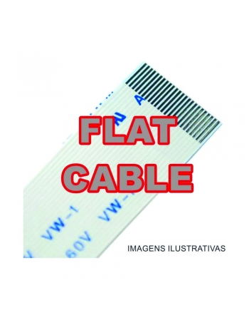 CABO FLAT CABLE 6 X 230 MM 1.25MM INVERTIDO