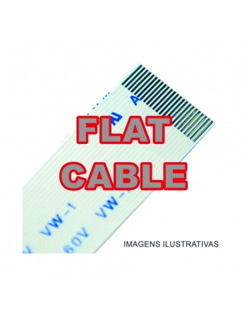 CABO FLAT CABLE 8 X 550 MM 1.25MM INVERTIDO