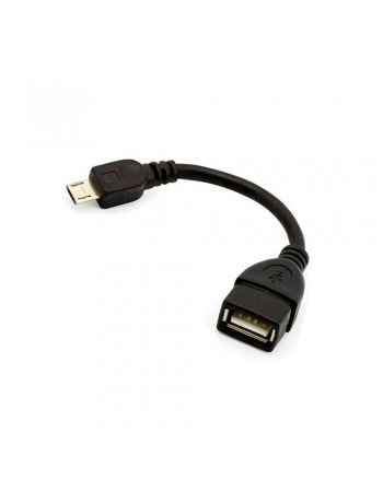 CABO ADAPTADOR MICRO USB MACHO + USB FÊMEA V8