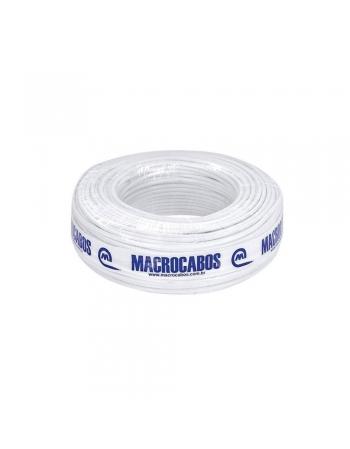 FIO COAXIAL RG-6 - 67% DE MALHA ROLO COM 100 METROS COM ANATEL