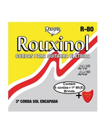 JOGO DE CORDAS R80 AÇO PARA GUITARRA - ROUXINOL