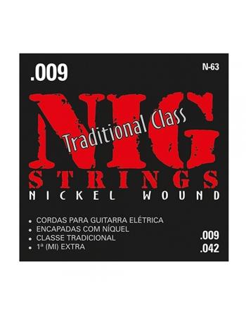 JOGO DE CORDAS N63 COM BOLINHA PARA GUITARRA - NIG
