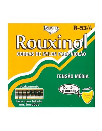 JOGO DE CORDAS R53-A NYLON TENSÃO MÉDIA PARA VIOLÃO - ROUXINOL