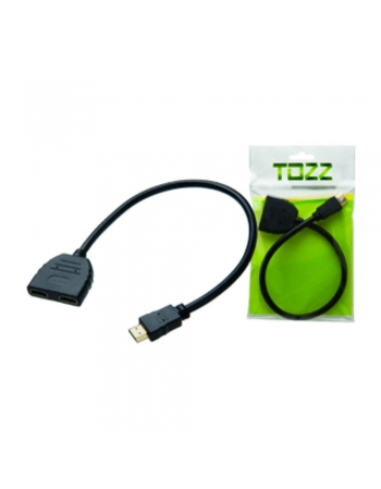 CABO SPLITTER MULTIPLICADOR DE SAÍDA HDMI MACHO X 2 HDMI FÊMEA