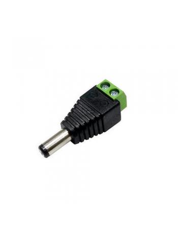 CONECTOR P4 MACHO COM BORNE 2,1 X 5.5