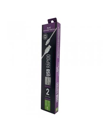 CABO DE DADOS CARREGAMENTO USB + MICRO USB V8 2 METROS