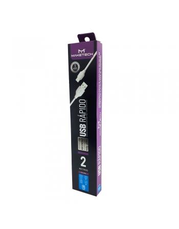 CABO DE DADOS CARREGAMENTO USB + MICRO USB V8 2 METROS TIPO-C