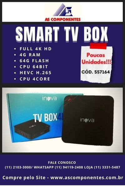 AS Componentes Smart TV Box HD 4k