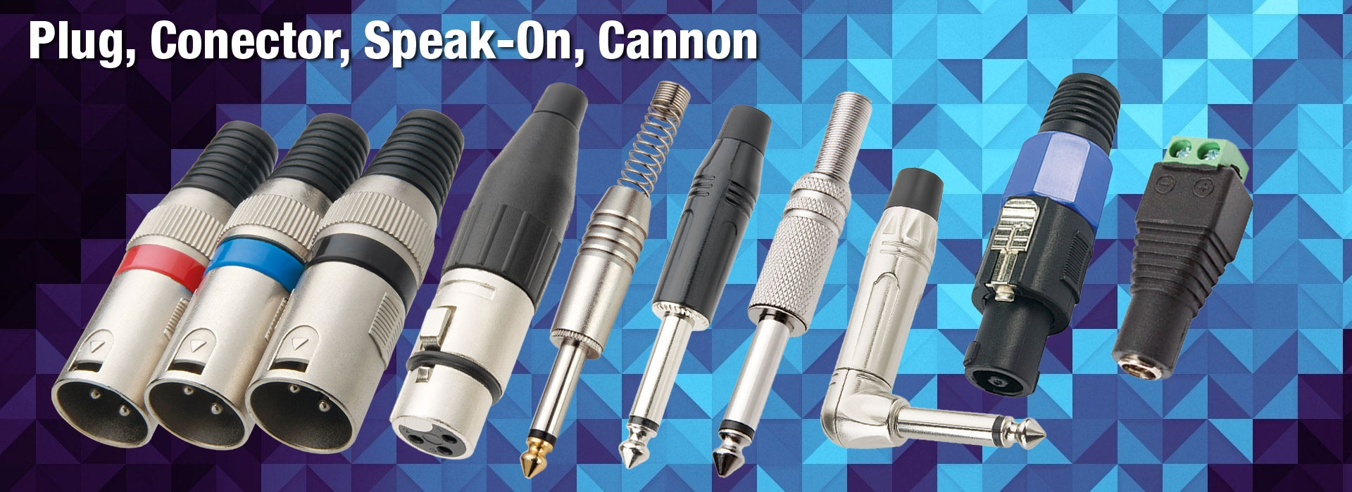 Linha de Plug, Conector, Speak-On e Cannon